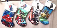 "MARVEL OR STAR WARS SATIN 18"" CHRISTMAS STOCKING FUR TRIM BRAND NEW w/TAGS"
