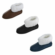 Mens Indoor Home Winter Slippers Boots Ankle Plush House Warm Cozy Shoes