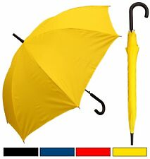 "Lot of 12 - 48"" Doorman, Black Handle Umbrellas - RainStoppers, Rain/Sun UV"