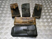 Genuine Vintage Military Issue Long Leather Ammo / Utility Pouch Assorted Colour