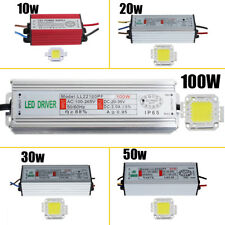 Waterproof  10W 20W 30W 50W 100W High Power LED Driver Supply&LED SMD Chip Bulbs