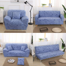 1/2/3 Seater Washable Surefit Stretch Couch Sofa Slipcover Protector - Blue