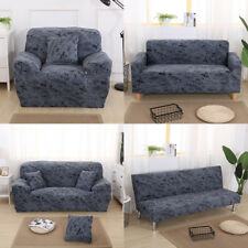 1/2/3 Seater Washable Surefit Stretch Couch Sofa Slipcover - Dark Grey