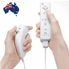 White Remote Wiimote Nunchuck Controller Set Combo for Nintendo Wii Game SHARE