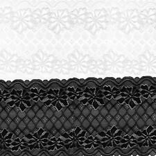 5yd 24cm Stretch Lace Ribbon Elastic Tape Lace Fabric Lace Trim For Sewing Craft