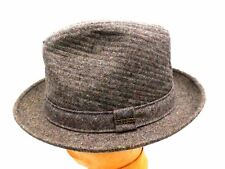 NEW Vintage Men's Hat  Stetson Trilby Fedora Brown Tweed Rain Rat Pack