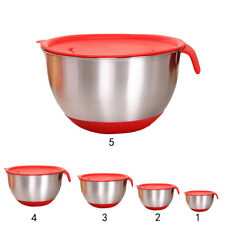 Christmas Dinner Mixing Bowls with Lid Salad Bowl Kitchen Baking Skidproof