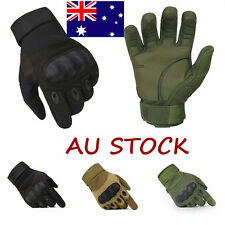 Military Tactical Full Finger Gloves Airsoft Hard Knuckle Hunting SWAT
