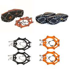 Footwear Traction Cleats 12 Teeth Ice Snow Grips Crampon for Hiking Climbing
