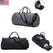 Oxford Travel Duffel Shoulder Bag Sport Gym Luggage Tote with Shoes Compartment