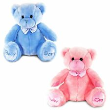 Keel Toys BABY BOY/GIRL BEAR BLUE/PINK/SMALL/LARGE Baby/Toddler Soft Toy BN