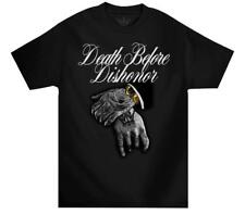 Mafioso Death Before Dishonor B4 Black Hip Hop Crewneck Adult Mens T Tee Shirt