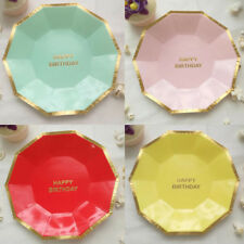Cake Tableware New Disposable Party Supplies Round Birthday 8pcs Paper Plates