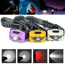 3W 3 LED 4-mode Mini Headlight Headlamp Head Torch Hunting Camping Flashlight