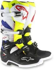 Alpinestars Tech 7 Mens MX Offroad Boots White/Yellow/Blue