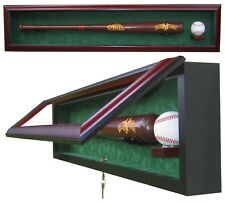1 BASEBALL BAT WITH 1 BASEBALL DISPLAY CASE - SPORTS DISPLAY CASE