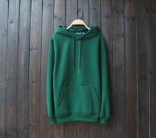 New Popular Unisex Young Cotton Design Long Sleeves Dark Green Color Sweats