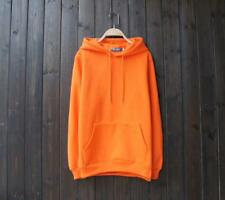 .New Popular Unisex Young Cotton Design Long Sleeves Orange Color Sweats