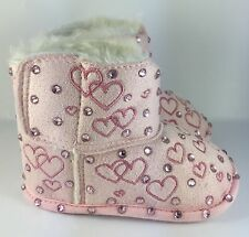 Customised Handcrafted Infant Pink Baby Girl Winter Boots Pram Romany Christmas