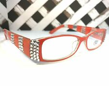 READING GLASSES MADE WITH SWAROVSKI CRYSTAL ELEMENTS +1.50 +2.50 +3.50