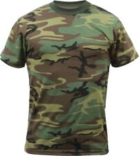 Kids Woodland Camouflage Heavyweight Premium Military T-Shirt