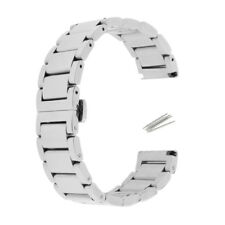 Stainless Steel Link Watch Band Kit Strap Replacement Butterfly Buckle 18-22mm