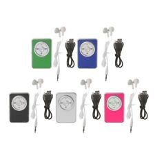 Mini Clip Music Media MP3 Player Support TF Card With Earphone