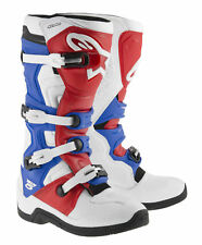 Alpinestars Tech 5 MX Offroad Boots White/Red/Blue
