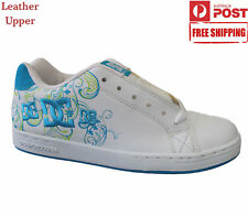 New with Defect DC Shoes Girls Kids Sneaker Trainers Skate Casual White Size 6