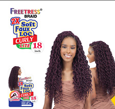 Freetress Synthetic Braid - 2X SOFT CURLY FAUX LOC 12 or 18