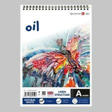 Oil Linen Surface Pad Drawing Artist Paper on Spiral Book - 250gsm