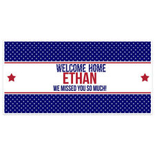 Welcome Home Stars Military Banner Party Backdrop