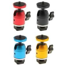 "Mini 360° Ball Head Hot Shoe 1/4"" Thread Mount Holder for DSLR Camera Tripod"