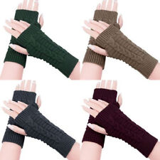 Hand Knitting Winter Warm Finger-less Arm Cold Weather Gloves For Women's