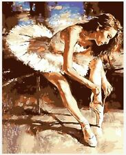 """16X20"""" Paint By Number DIY Acrylic Kit Oil Painting Ballet Girl Canvas 2029"""