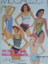 McCalls 4301 Tank Maillot  Swimsuit Bathing Suit Pattern SZ  20  Bust 42