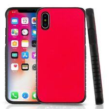 Red Black Dual Layer Hybrid PC/TPU Protector Cover Phone Case for Apple iPhone X