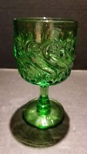 Vintage Depression Era Wine Glass Goblets Fenton Pink LG Wright Green Ruby Red