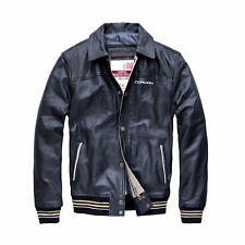 Cordon Sports Berlin Men's Leather Jacket Harvard jkt. Real Leather Jacket Black