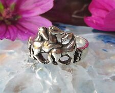 Ring Horse Three Horse Foal Playing Herd Sterling Silver 925 Plastic