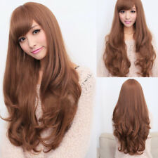 Women Cosplay Fancy Curly Long Wig Ladies Party Full Synthetic Wavy Hair Costume