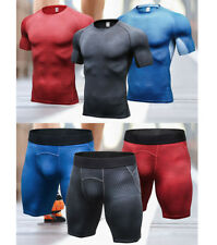 Men Compression Fitness Shorts Gym Workout Sports Running Tops & Pants Underwear