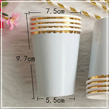 Tableware 8pcs/Set Paper Cups Wedding Disposable Party Birthday Supplies Hot
