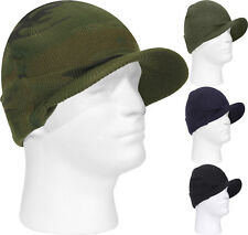Deluxe Jeep Cap Military Beanie Acrylic Skull Cap with Visor