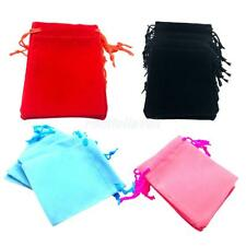 50pcs Velvet Jewelry Drawstring Gift Bag Pouches Wedding Favour Vary 4 Colors