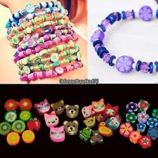 100 PCS Clay Beads DIY Slices Mixed Color Fimo Polymer Clay EH7E