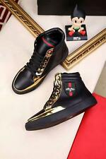 HOT  Men's Punk Lace-Up Shoes Ankle Boots Fashion Sneakers Leather High Top
