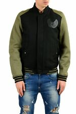 Just Cavalli Men's Wool Two Tones Full Zip Bomber Padded Jacket Size S M L