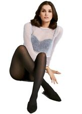 40 Denier Patterned Semi Opaque Black Tights - Fiore Sunday Hosiery