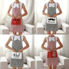 Cute BowKnot Dot Women Kitchen Restaurant Bib Cooking Aprons With Pocket New